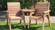 2 Seater Person Wooden Garden Bench Love Seat Chair Outdoor Patio Companion Set