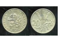 TCHECOSLOVAQUIE  20 haleru 1924  ( bis )