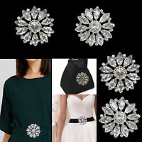 65/80mm Crystal Round Diamante Motif Patches for Wedding Dress Gowns Crafts