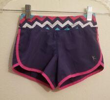 Girls XS 4-5 - Danskin Now Navy Blue w/Pink Trim Shorts Active Running