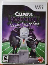 Nintendo WII Casper's Scare School Spooky Sports Day Kids Family Cartoon NICE