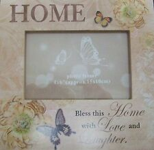 Shabby Chic Wooden Home-Photo Frame-Home-Bless this Home with Love and Laughter