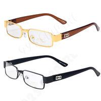 Men's Clear Lens Small Metal Frame Retro Rectangle Designer Eye Glasses BOG*9032