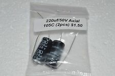 2pk - 220uf/50V Axial Lead Capacitors - 105 Degrees C