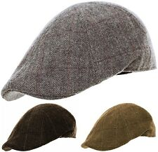 Mens Shaped Flat Caps Peaked Outdoors Country Racing Hat 6 Panel Newsboy Cap