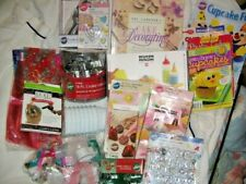 LOT OF CAKE DECORATING /COOKIE/BAKING/PARTY/ACCESSORIES/GIFT BAG/BOX/ASSORT. NEW
