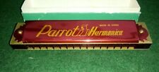 Vintage `Parrot` 16 hole Harmonica in Original Box - made in china