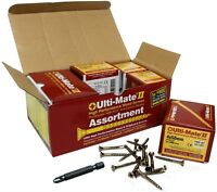 ULTI-MATE 11 PRO WOODSCREWS POZI SLOTTED 4MM X 50MM WITH BIT PACK OF 200