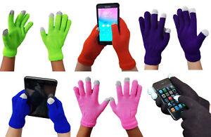 Touch Screen Winter Warm Stretch Magic Gloves Ladies Mens Boys Girls Children