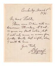 Louis Agassiz Swiss Scientist Autograph Letter Signed - Authentic - Scarce!