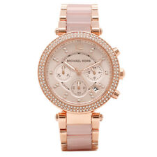Michael Kors MK5896 Women's Parker Rose Gold Blush Crystal Set Watch