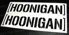 200mm (20cm) Hoonigan VINILE AUTO ADESIVI DECALCOMANIE BLOCCO KEN hooning JDM 17