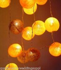 Autumn Leaves Cotton Ball Fairy Light String 20 Bulb
