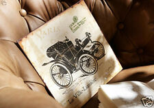 """LARGE Shabby  French Chic  Paris Eiffel Tower Vintage Chariot Car Sign 10"""" x 10"""""""
