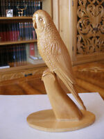 PARROT_____CARVED WOOD SCULPTURE by STELICA COVACI !!!!