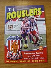 23/04/2013 Bromsgrove Rovers v Lye Town [Smedley Crooke Cup] (No Apparent Faults