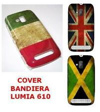 NOKIA LUMIA 610 COVER CUSTODIA FLAG BANDIERA FLAG ITALIA JAMAICA UK VINTAGE