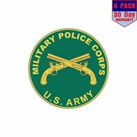 USA Army Military Police Corps 4 pack 4x4 Inch Sticker Decal