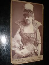 Cdv old photograph actress Letty Lind by Downey with advertising back c1880s