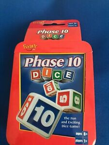 Fundex Phase 10 Dice Game in Tin Used 100% Complete 2004