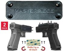 2-Pack Gun/Rifle/Shotgun Magnetic Mount 43 Lbs Rating Rubber Coated Quick Access