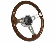 1969 -1985 Chevy Impala 9 Bolt Walnut Steering Wheel Kit with Hub & Emblem