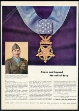 1947 Congressional Medal of Honor soldier photo US Army recruitment print ad