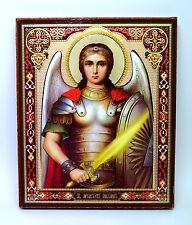 Ikone Erzengel Michael Holzplatte икона Архангел Михаил освящена 24x20x2 cm