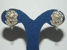 Zauberhafte Rosen Markasiten Ohrringe Ohrschrauben