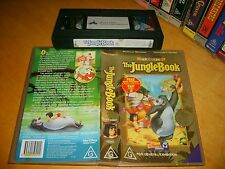 VHS *THE JUNGLE BOOK* 1987 Disney Collector's Edition Animated Timeless Classic!