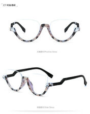 1bf2cb5e2a96 Women Clear Lens Oculos Half Frame Plain Glasses Fashion Cat Eye Sunglasses