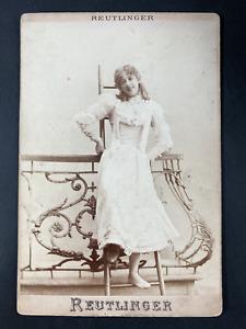Reutlinger, Paris, Bianca Duhamel, Envoi à Alice Roubaud Vintage print. Carte ca