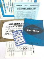 1960S KRIESLER AUSTRALIA TRIPLE-THROAT TELEVISION RECEIVER COMPLETE SALES PACK!!