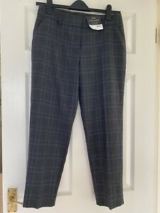 Dorothy Perkins Trousers Check Pattern Ankle Grazer Size 10 BNWT