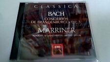 "NEVILLE MARRINER ""BACH CONCIERTOS DE BRANDENBURGO 1 2 3"" CD 10 TRACKS"