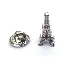 Plata Francesa Eiffel Tower Pin De Solapa Insignia Monumento Paris Francia Viaje Regalo Nuevo