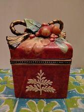Vintage Fitz & Floyd Classics Holiday Solstice Ceramic Lidded Box