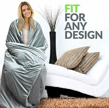 """RONGO Weighted Blanket Premium Comforter (80"""" x 87"""" 25 lbs Minky+Bamboo Cover)"""