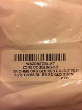 Ademco Vista 20P Zone Doubling Kit  7) - 3k & 7) - 6.2K Resistors WAZONEDBL-KT