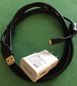 Wall Charger+ RAPID CHARGE GOLD-PLATED 10 FT FOOT MICRO USB Data CABLE/cord 6 3m