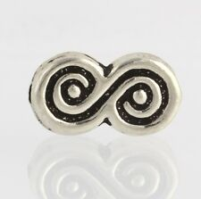 Figure-8 Swirl Bead - Sterling Silver Jewelry Crafting Findings 925