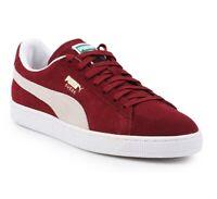 Puma Suede Classic Cabernet White 352634 75 Mens Casual Sneakers