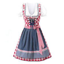 Europe Dirndl German Oktoberfest Bavarian Beer Gril Costume Women Maid Uniform