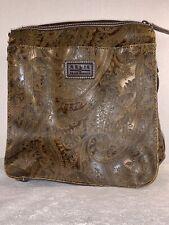 Womens Handbag / Shoulder Bag / Purse - Relic | Brown Embossed Paisley Satchel