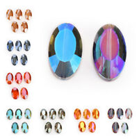 5/10/20Pcs Flat Oval Glass Crystal Spacer Beads 22x13mm DIY Jewelry Makings