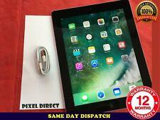 PERFECT Apple iPad 4th Generation 16GB, Wi-Fi, 9.7in - Black iOS 10 - Ref 102