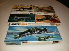 Vintage Lot of 5 Revell 1/72 Model Airplanes 1960's