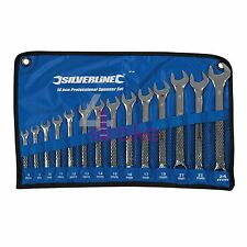 14 PCE SILVERLINE PRO CR-V METRIC COMBINATION SPANNER SET 8-24MM (SP50)