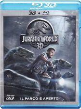 Blu Ray JURASSIC WORLD (3D) (Blu-Ray 3D+Blu-Ray) Oltre 1 ora di Cont.Extra ..NEW