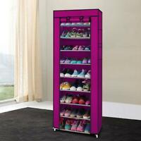 10 Layer Doors Tier Shoe Rack Closet Storage Organizer Cabinet Bench